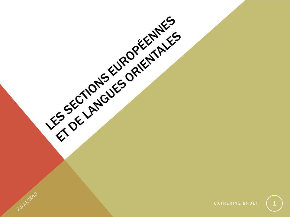 Les sections européennes et de langues orientales