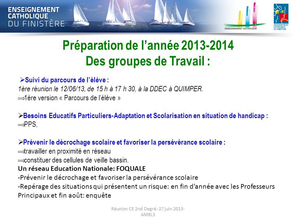 Réunion CE 2nd Degré- 27 juin 2013- AMBLS