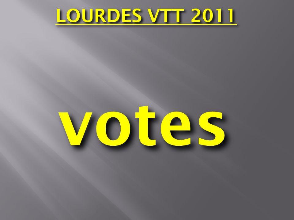 LOURDES VTT 2011 votes
