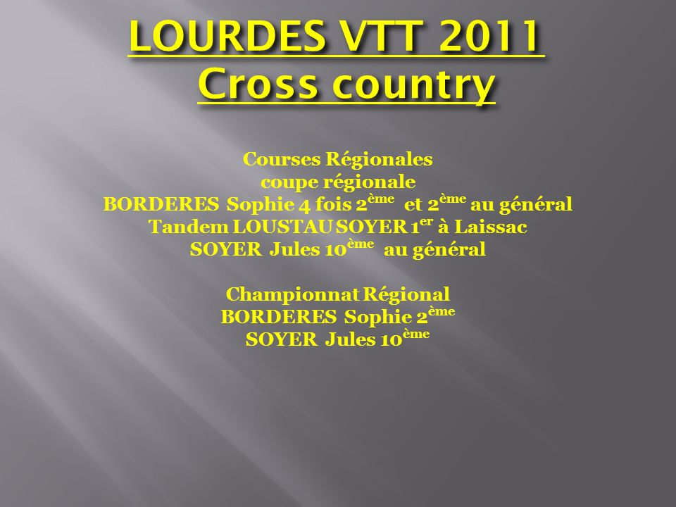 LOURDES VTT 2011 Cross country