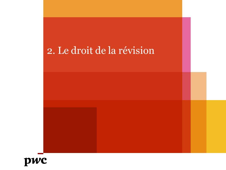 2. Le droit de la révision