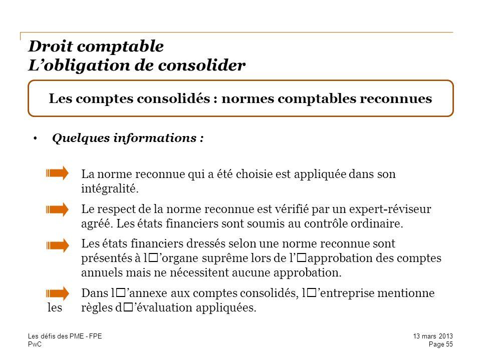 Droit comptable L'obligation de consolider