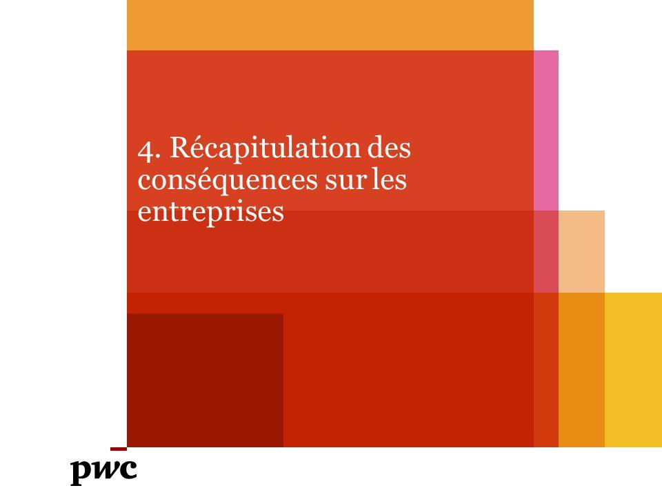 4. Récapitulation des conséquences sur les entreprises