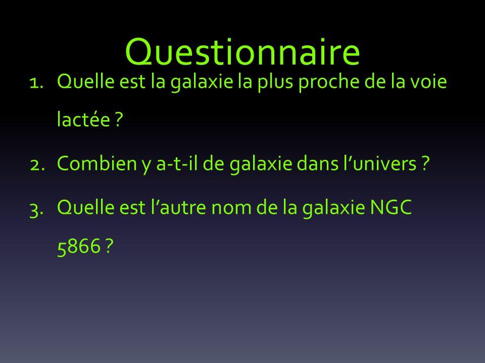 Questionnaire Quelle est la galaxie la plus proche de la voie lactée