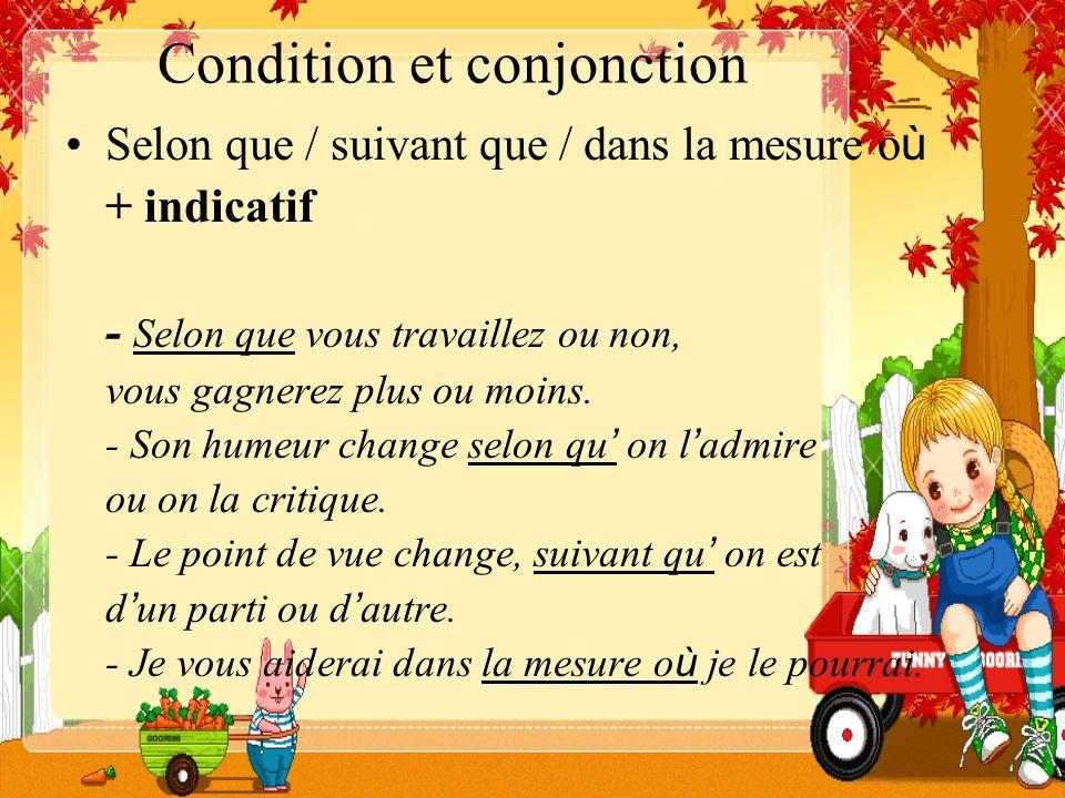 Condition et conjonction