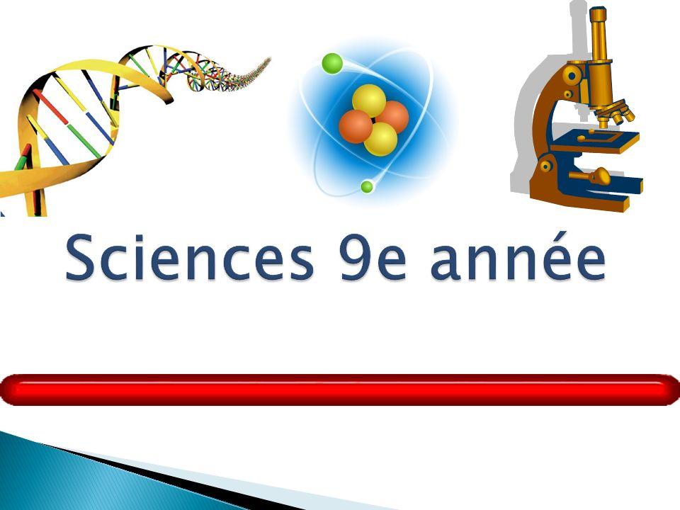 Sciences 9e année