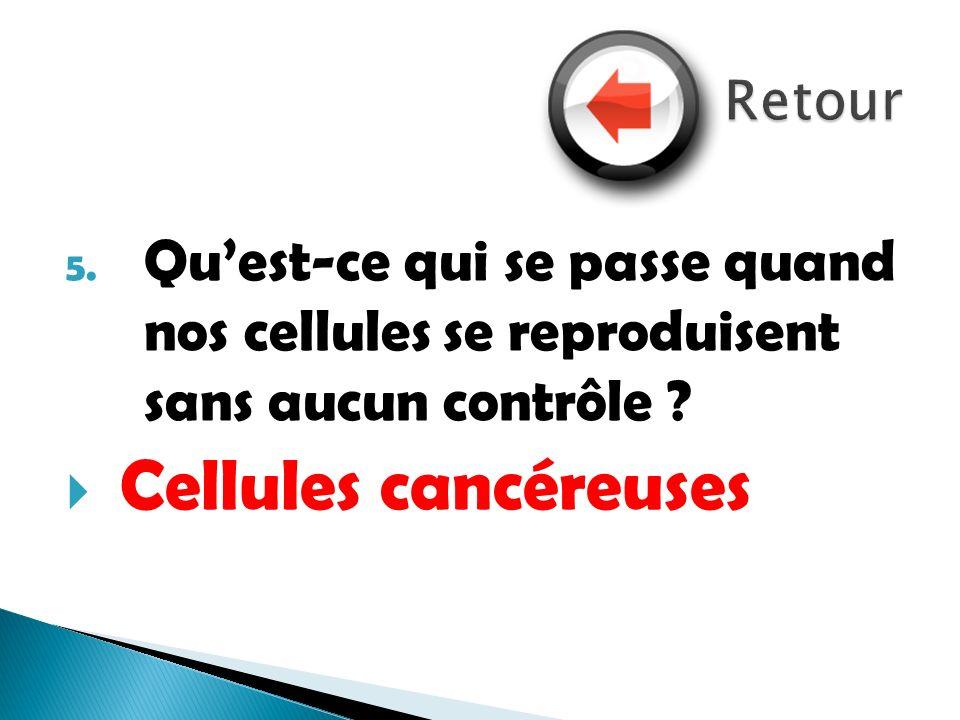 Retour Qu'est-ce qui se passe quand nos cellules se reproduisent sans aucun contrôle .