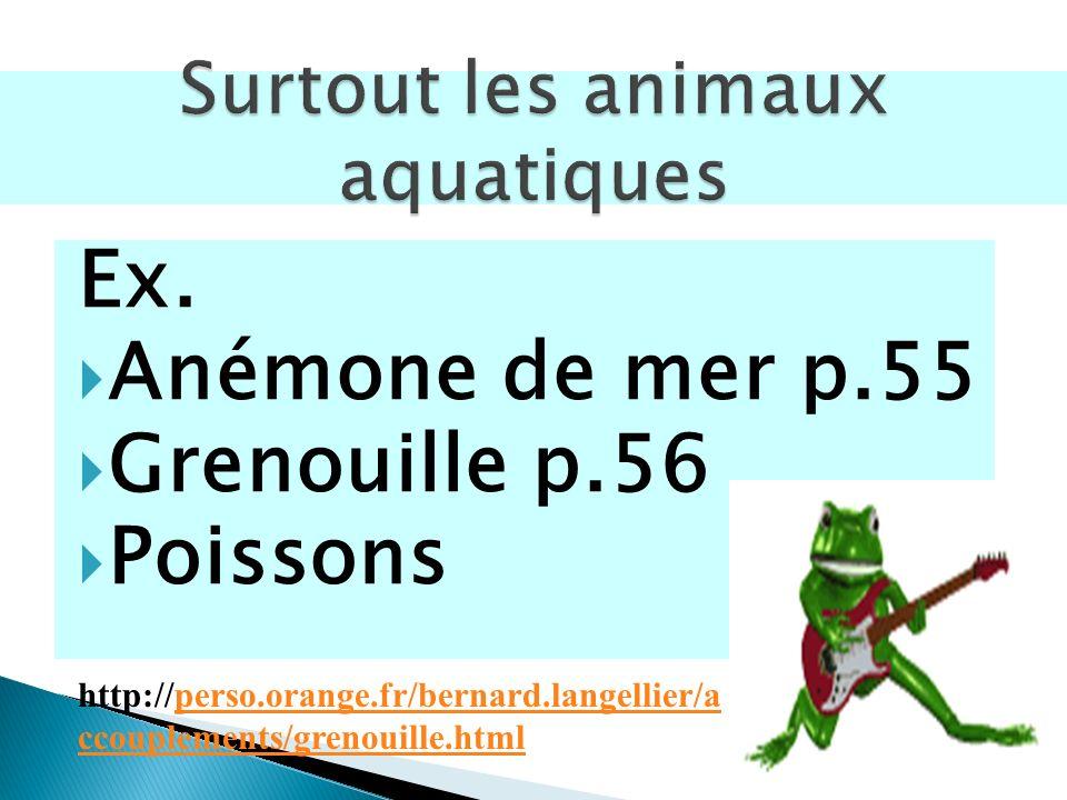 Surtout les animaux aquatiques