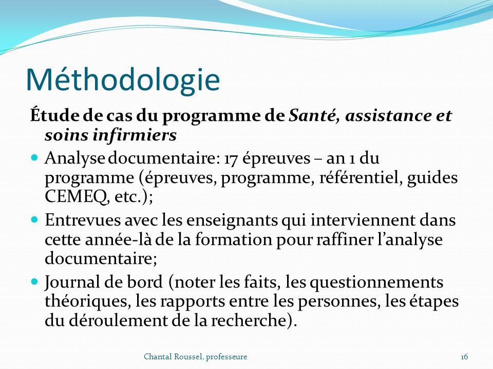 Méthodologie Étude de cas du programme de Santé, assistance et soins infirmiers.