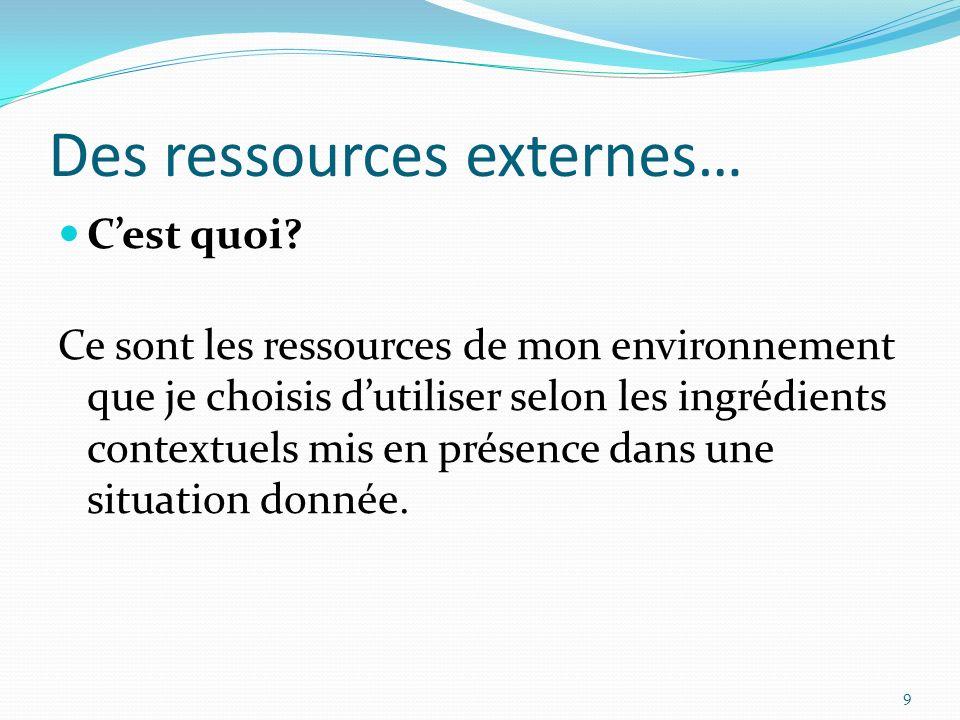 Des ressources externes…