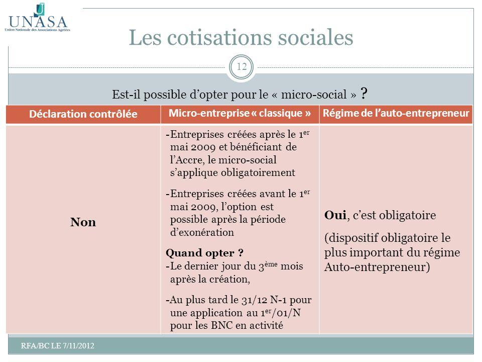 Les cotisations sociales