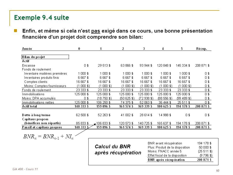 Exemple 9.4 suite BNRn = BNRn-1 + NIn