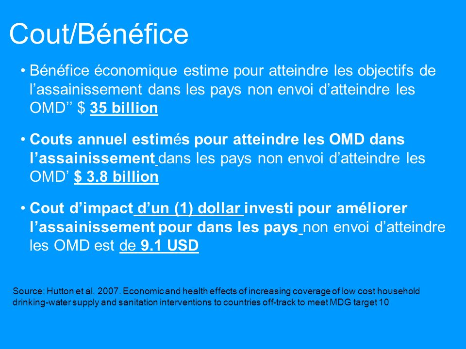 Cout/Bénéfice