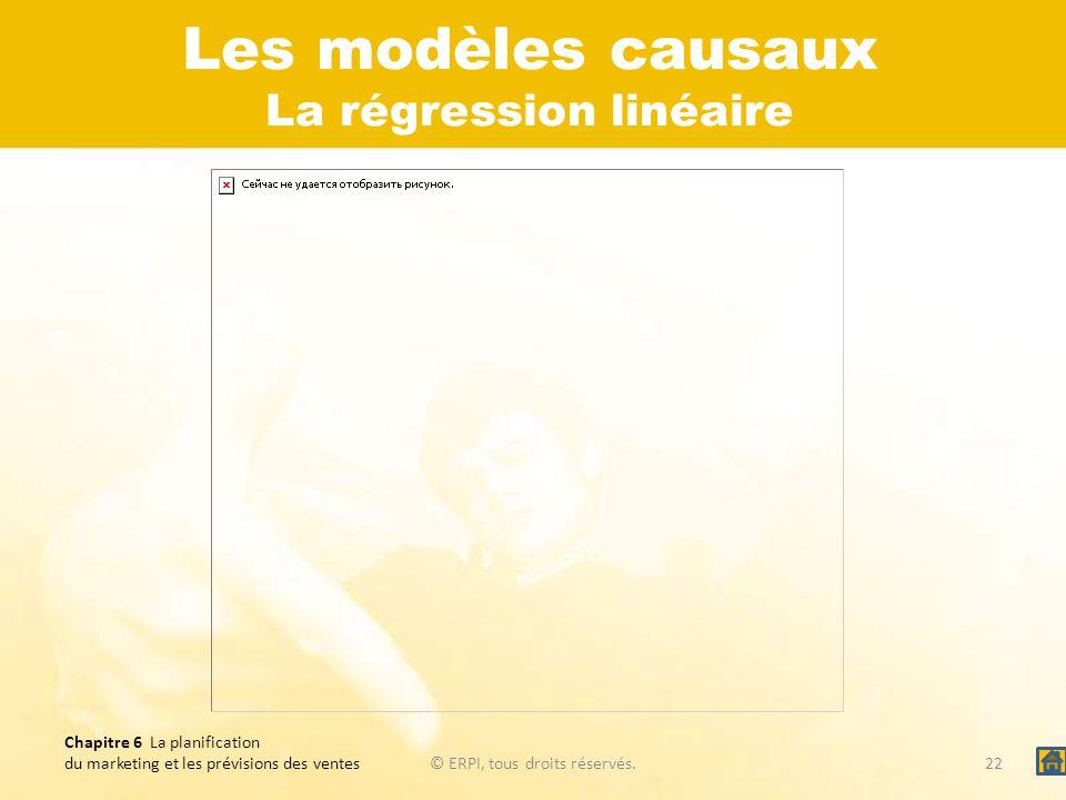 Les modèles causaux La régression linéaire