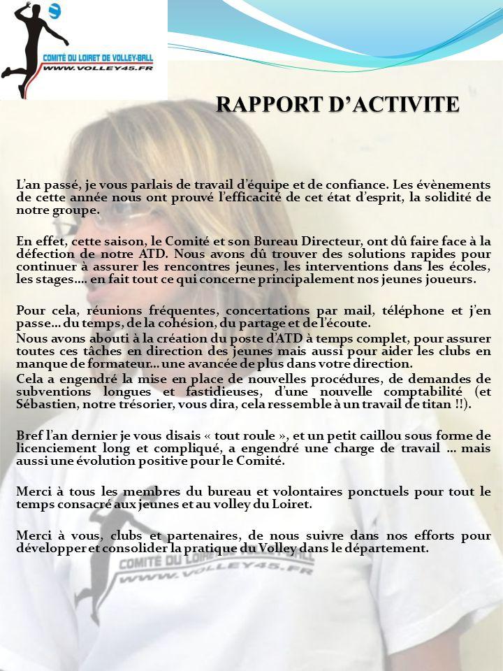 RAPPORT D'ACTIVITE