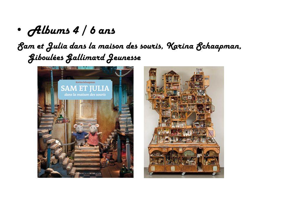 Albums 4 / 6 ans Sam et Julia dans la maison des souris, Karina Schaapman, Giboulées Gallimard Jeunesse.