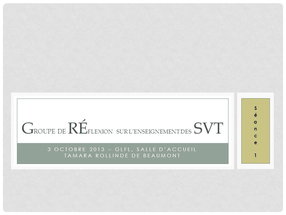 Groupe de Réflexion sur l'enseignement des SVT