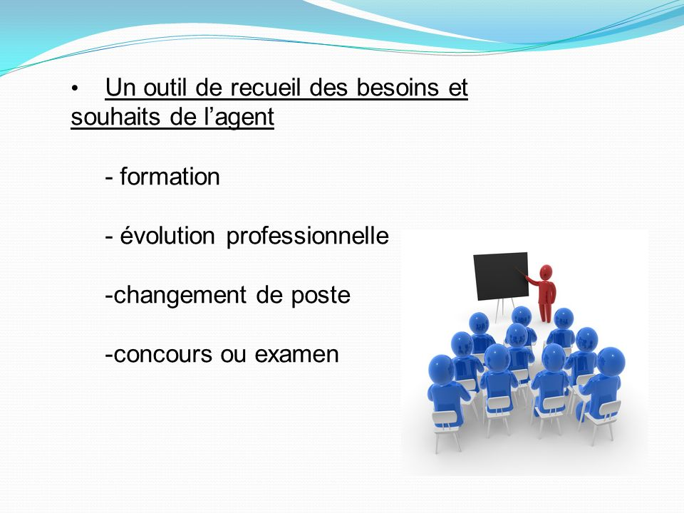 - évolution professionnelle -changement de poste -concours ou examen