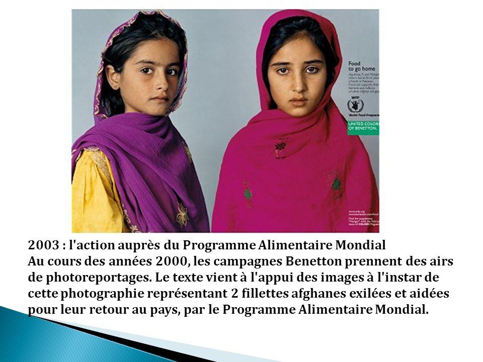 2003 : l action auprès du Programme Alimentaire Mondial