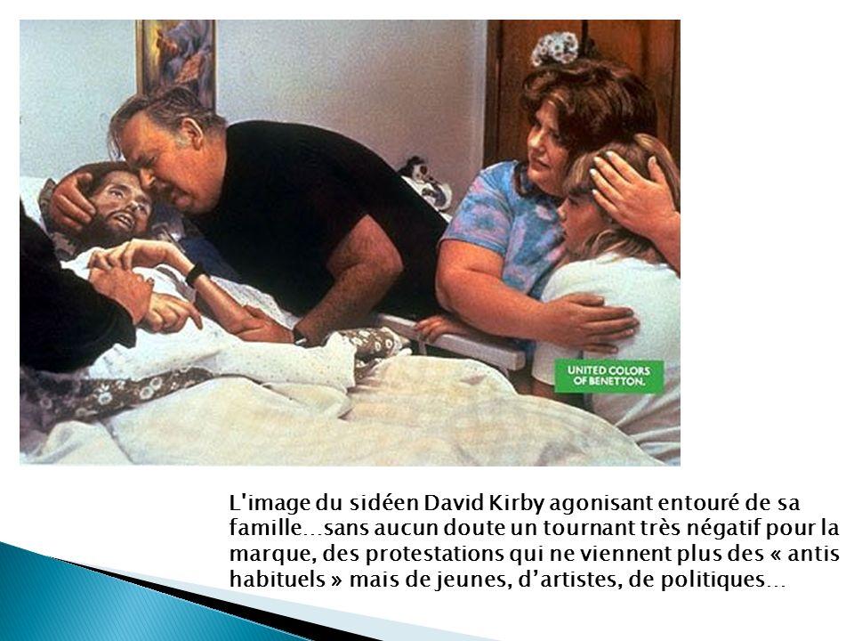 L image du sidéen David Kirby agonisant entouré de sa