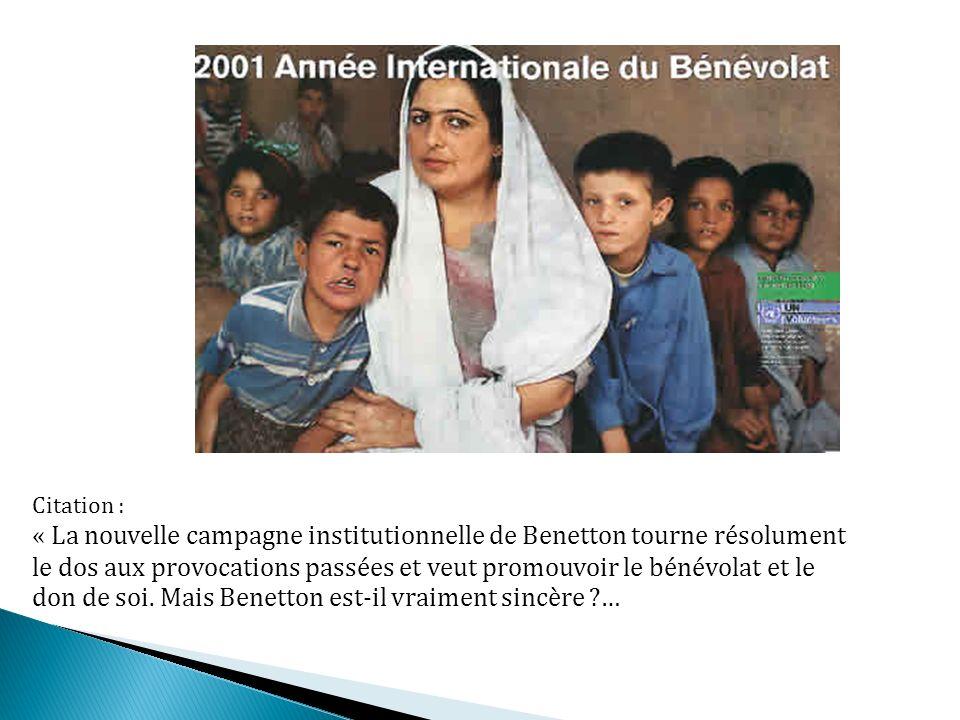 « La nouvelle campagne institutionnelle de Benetton tourne résolument