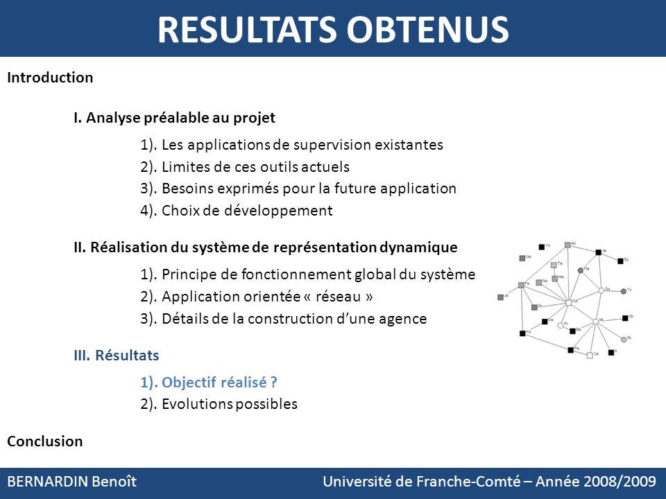 RESULTATS OBTENUS Introduction I. Analyse préalable au projet