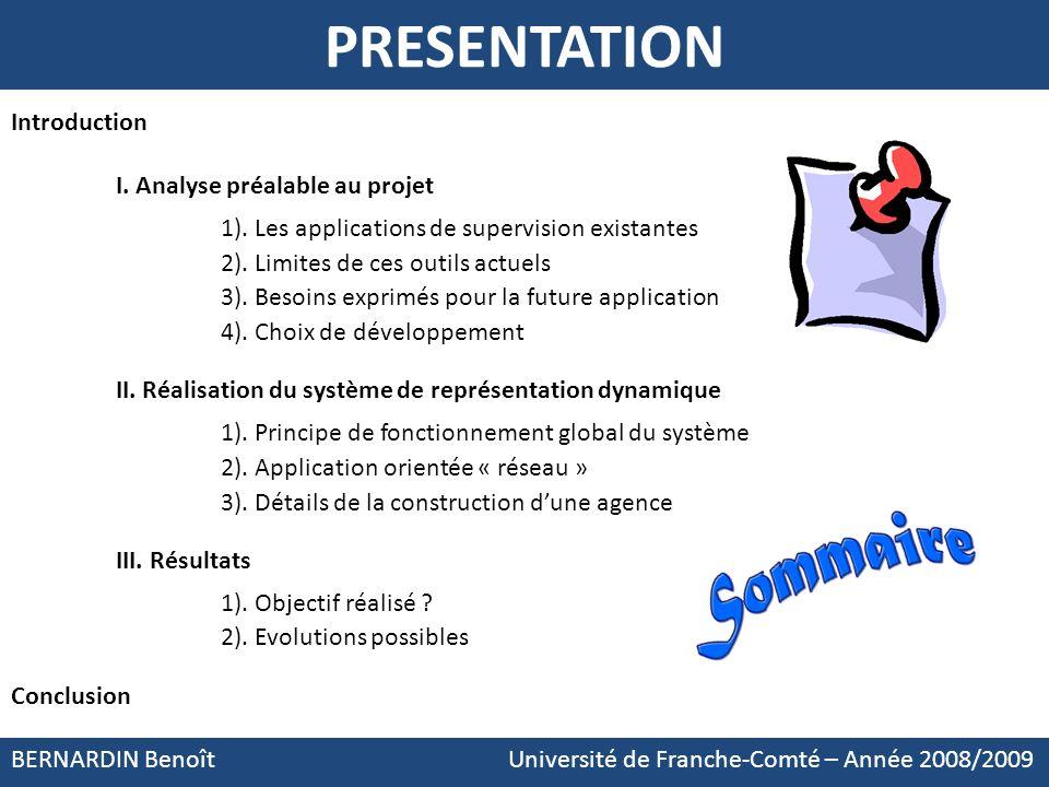 PRESENTATION Introduction I. Analyse préalable au projet