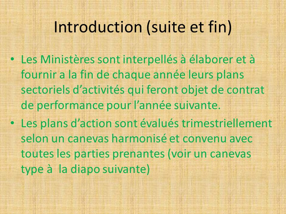 Introduction (suite et fin)