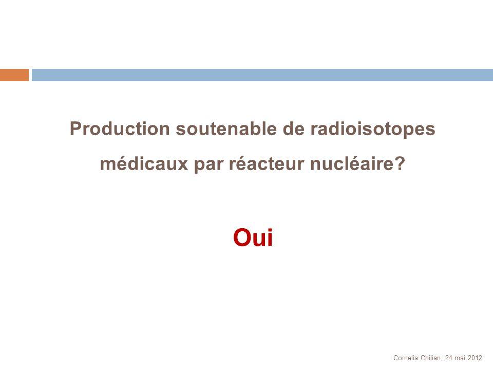 Production soutenable de radioisotopes médicaux par réacteur nucléaire
