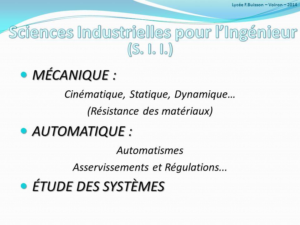 Sciences Industrielles pour l'Ingénieur