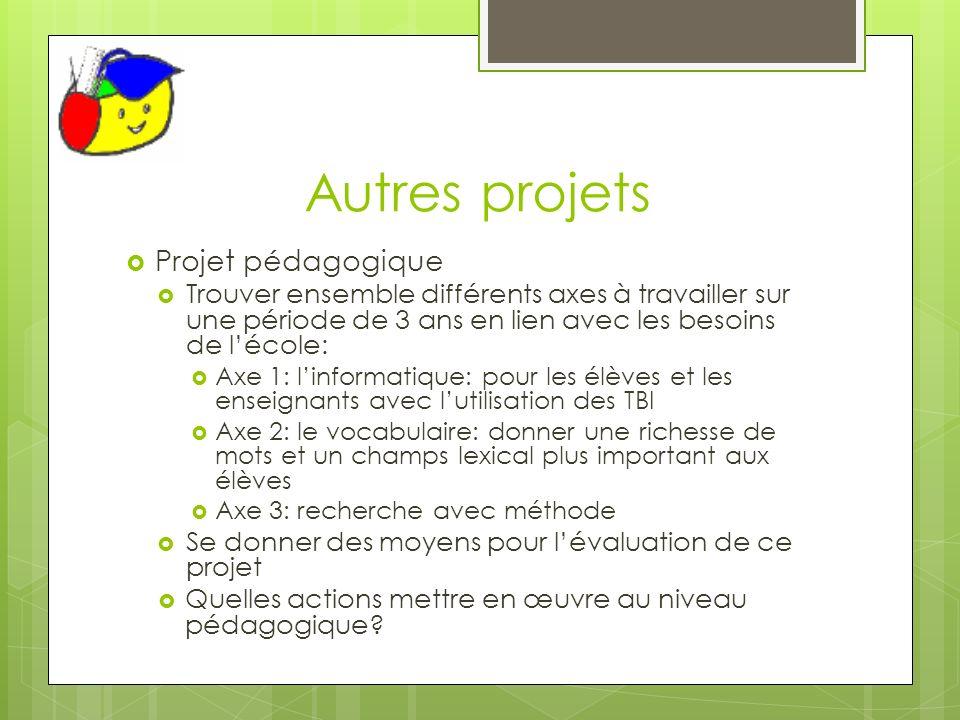 Autres projets Projet pédagogique