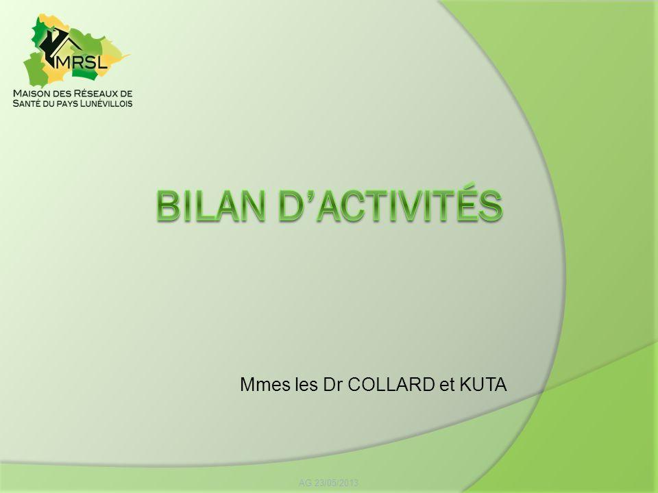 Bilan d'activités Mmes les Dr COLLARD et KUTA AG 23/05/2013