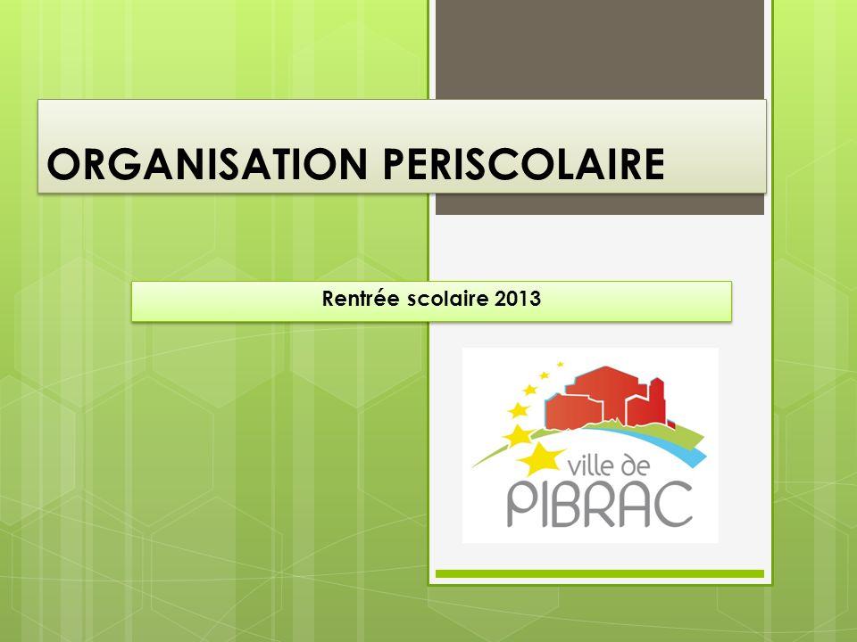 ORGANISATION PERISCOLAIRE