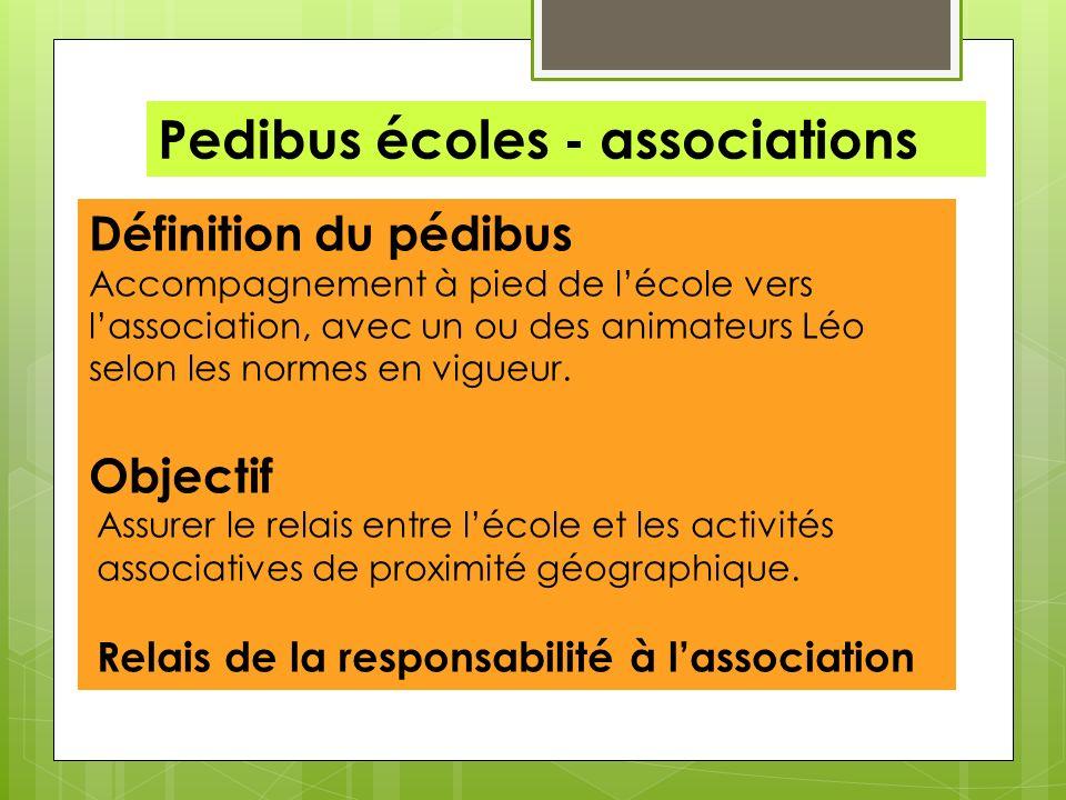 Pedibus écoles - associations