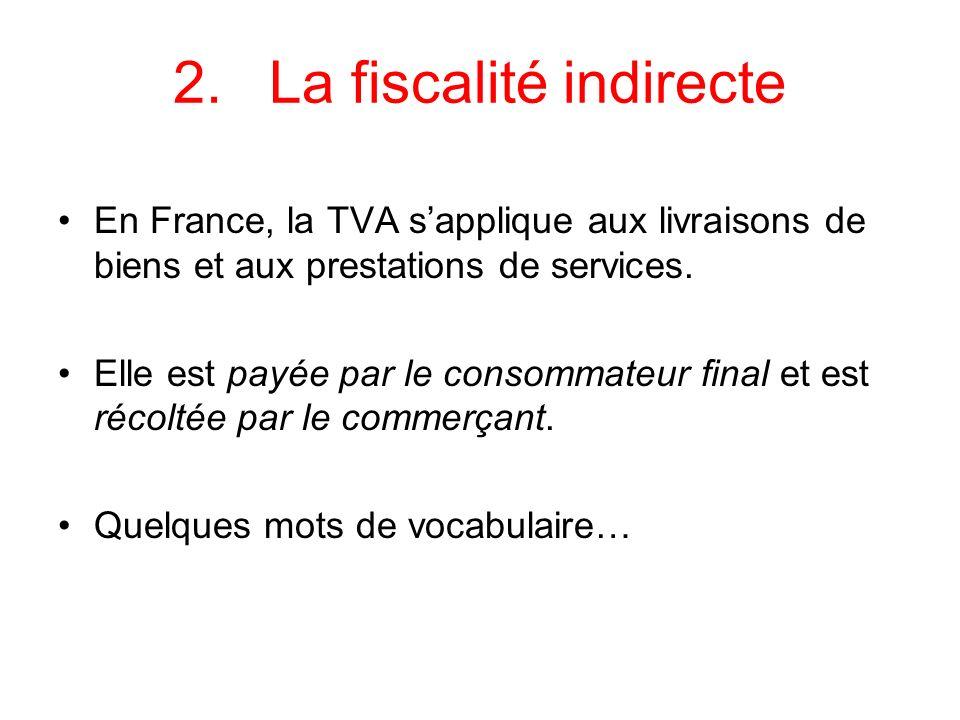 2. La fiscalité indirecte