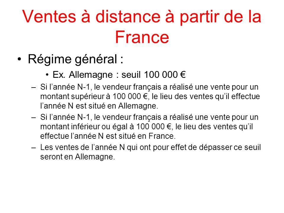 Ventes à distance à partir de la France