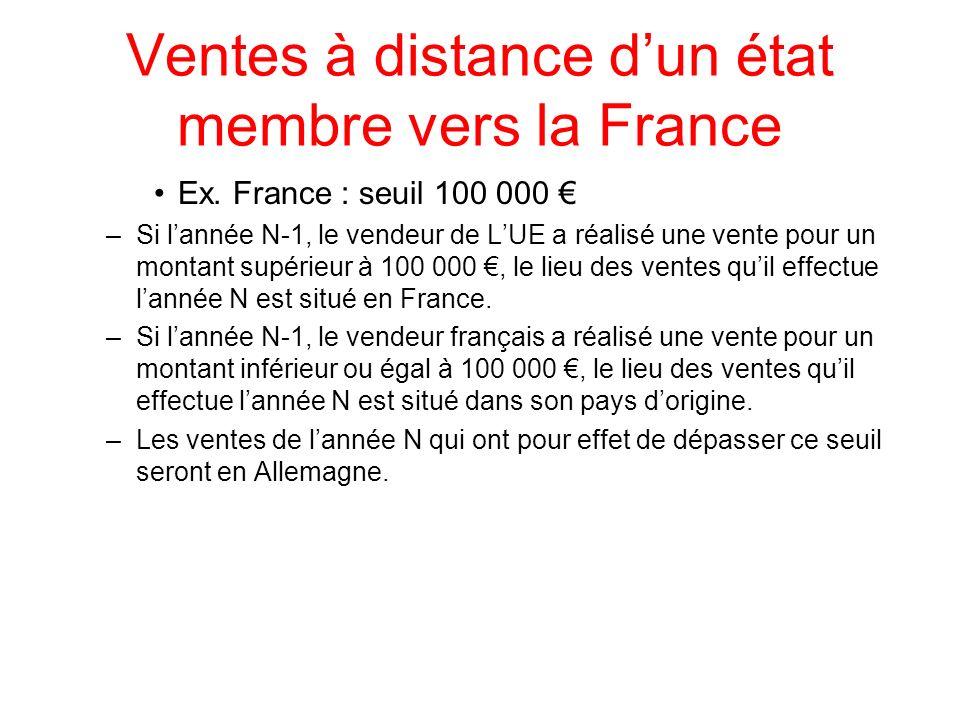 Ventes à distance d'un état membre vers la France