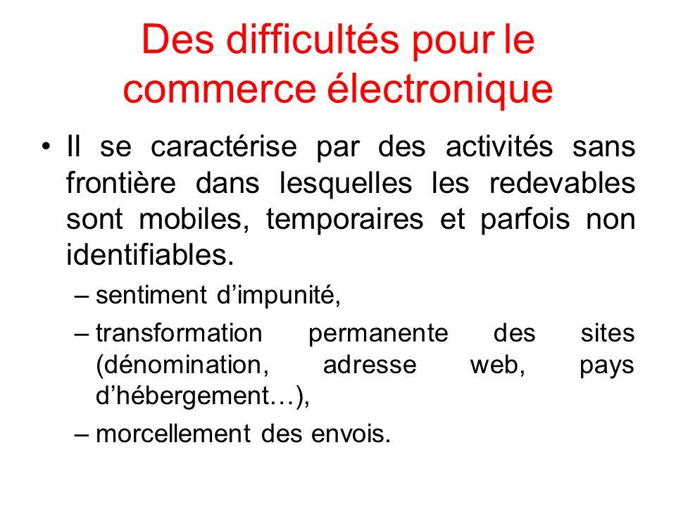 Des difficultés pour le commerce électronique