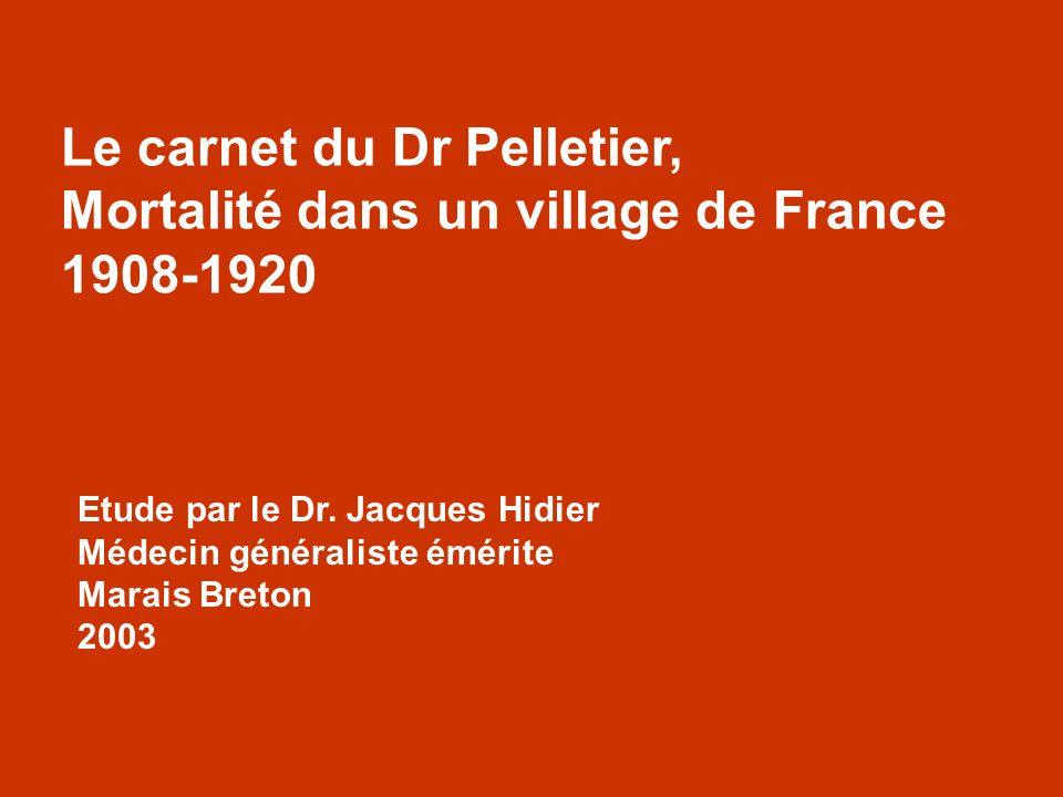 Le carnet du Dr Pelletier, Mortalité dans un village de France