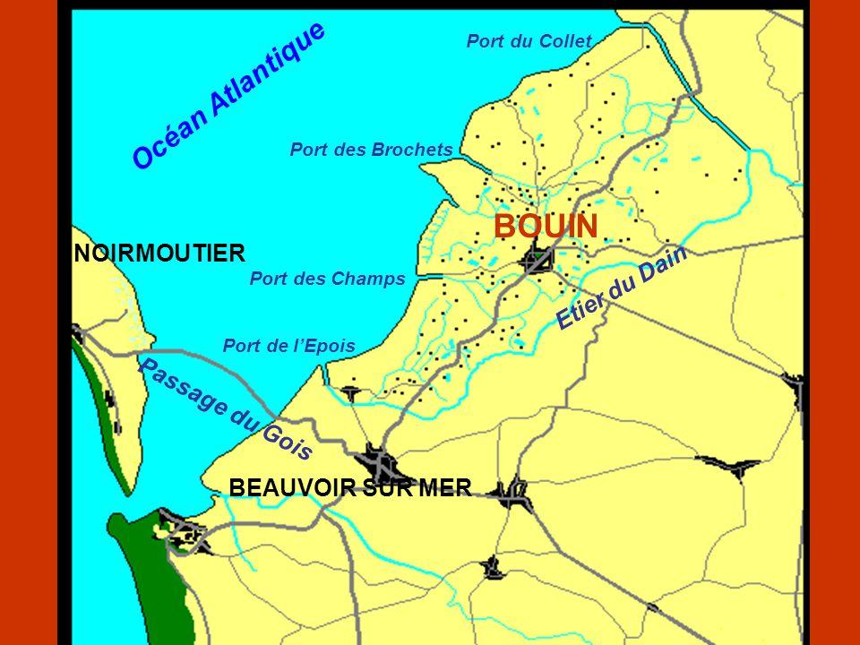 BOUIN Océan Atlantique NOIRMOUTIER Etier du Dain Passage du Gois