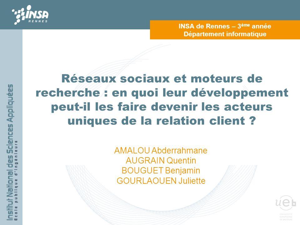 INSA de Rennes – 3ème année Département informatique