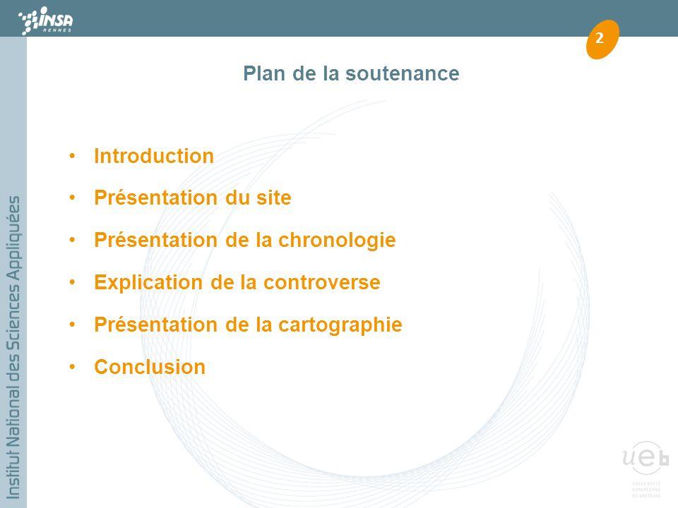 Plan de la soutenance Introduction. Présentation du site. Présentation de la chronologie. Explication de la controverse.