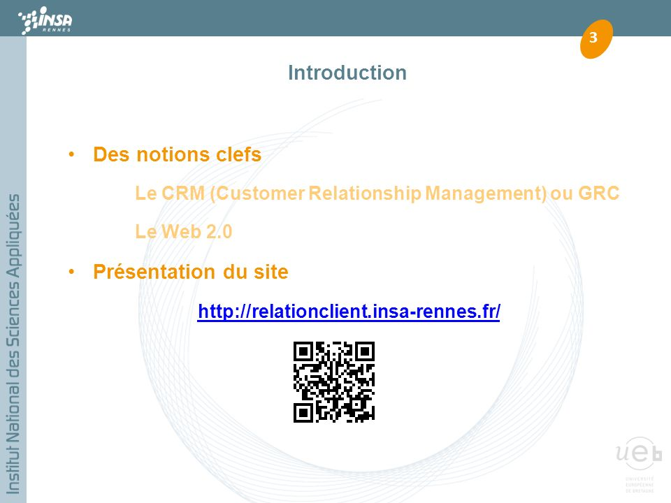 Introduction Des notions clefs Présentation du site