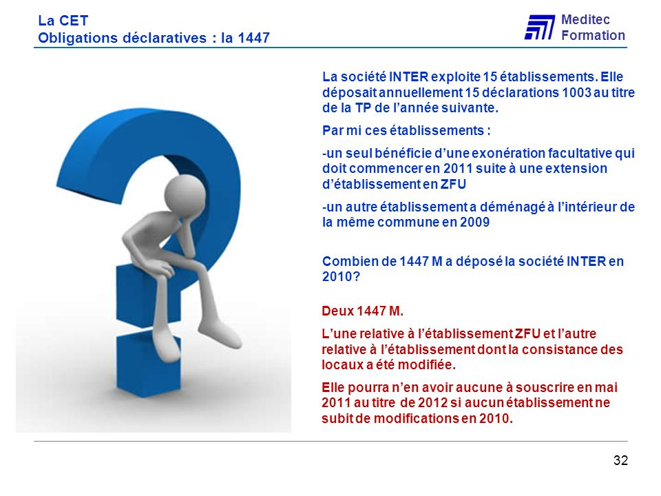 La CET Obligations déclaratives : la 1447