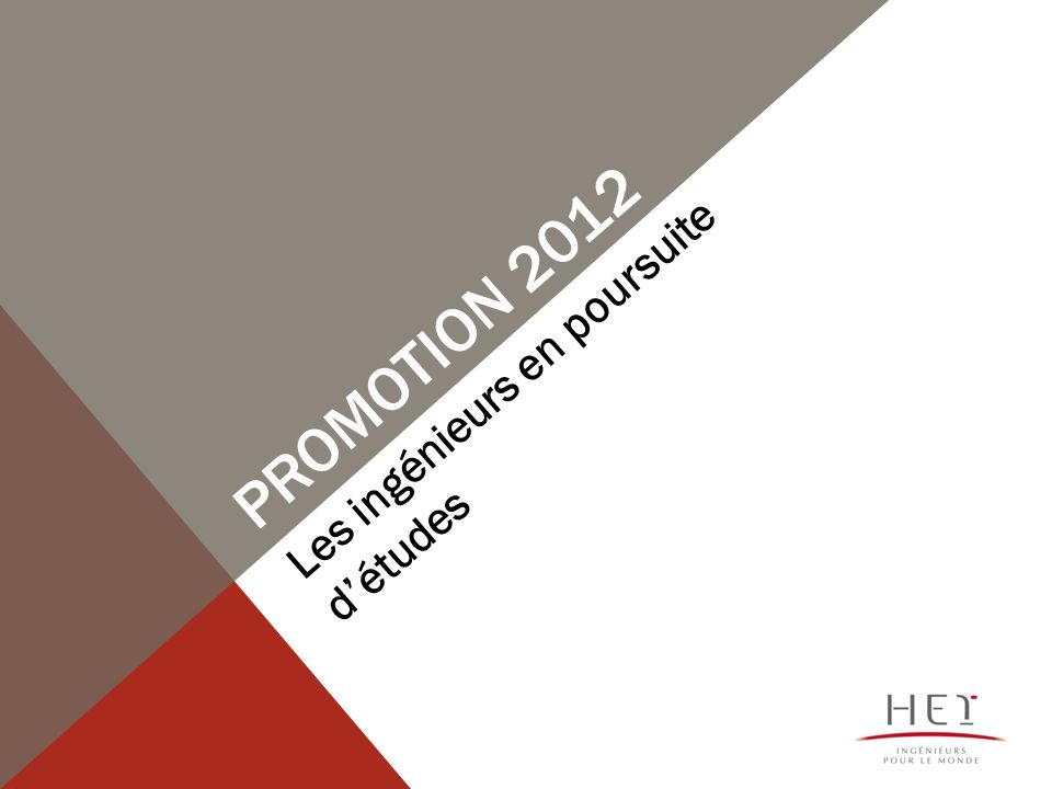 Promotion 2012 Les ingénieurs en poursuite d'études