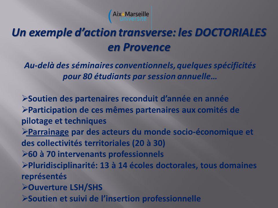 Un exemple d'action transverse: les DOCTORIALES en Provence