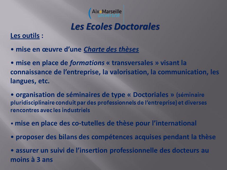 Les Ecoles Doctorales Les outils :