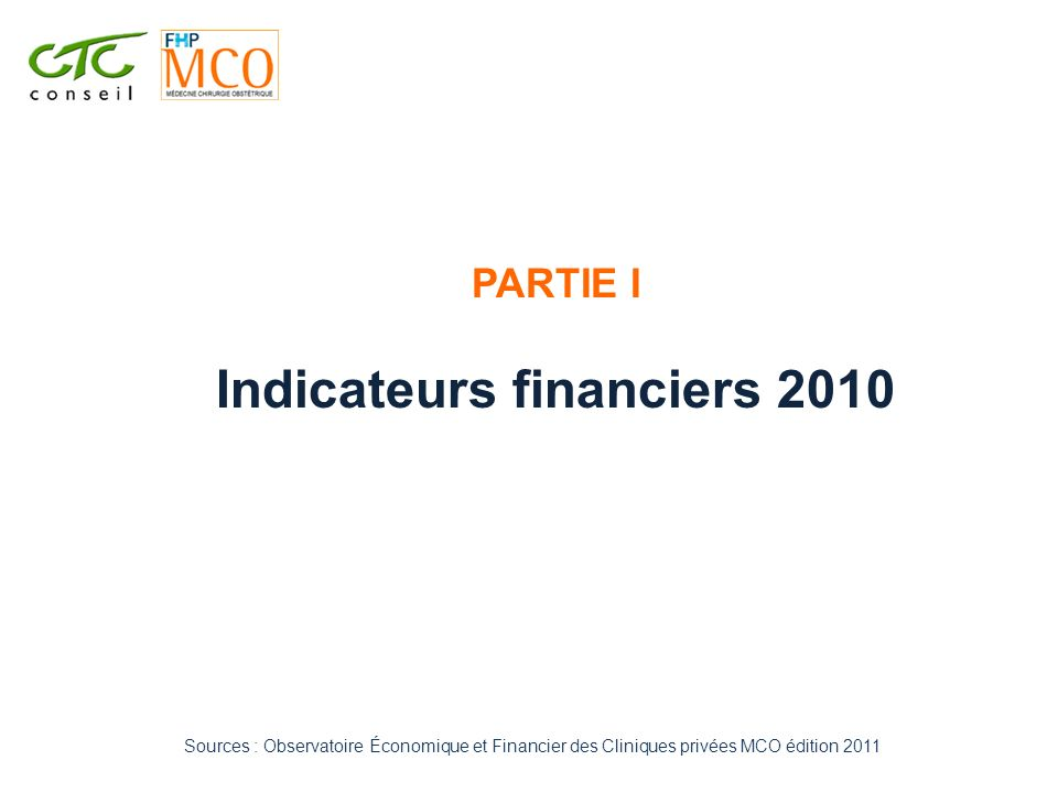 Indicateurs financiers 2010