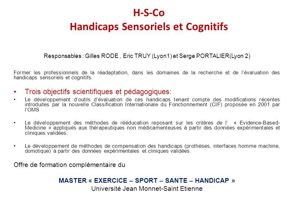 H-S-Co Handicaps Sensoriels et Cognitifs
