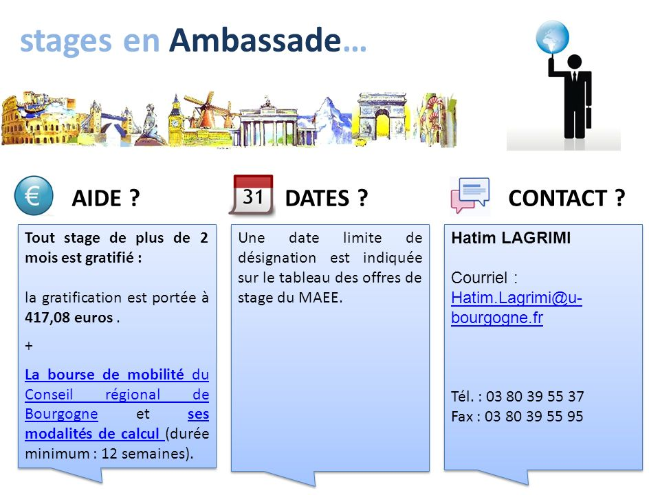 stages en Ambassade… AIDE DATES CONTACT